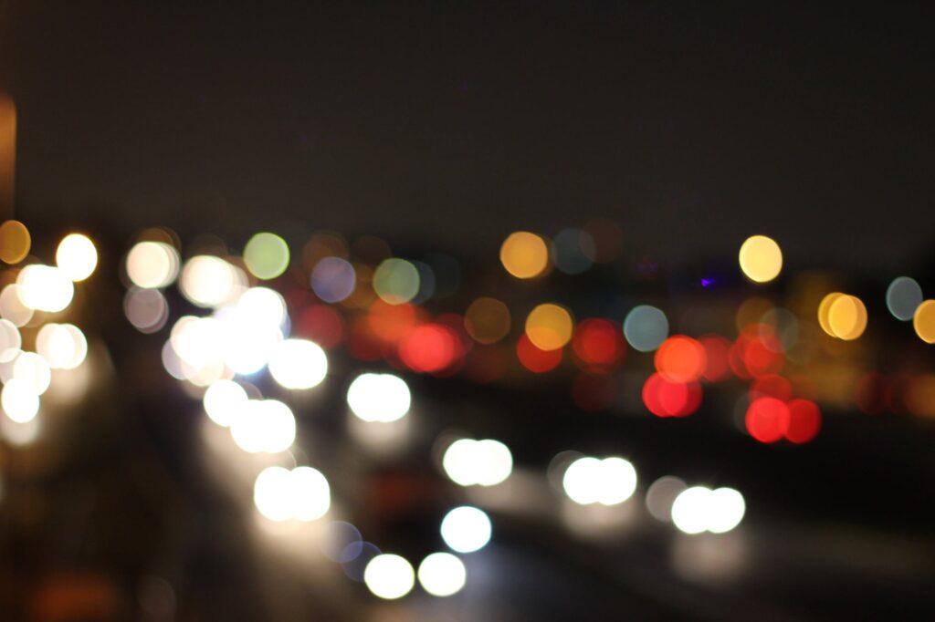 turned on bokeh lights
